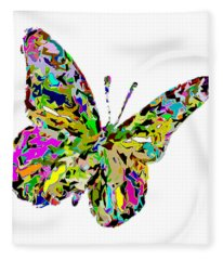 Butterfly Color Flutter Fleece Blanket