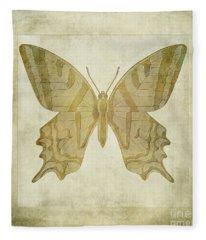 Butterfly Textures Fleece Blanket