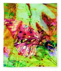 Butterfly That Was A Muscian Fleece Blanket