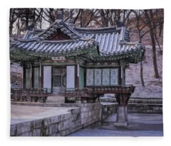 Buyongjeong Pavilion In Secret Garden II Fleece Blanket
