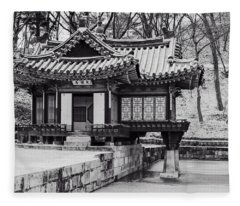 Buyongjeong Pavilion In Secret Garden Fleece Blanket