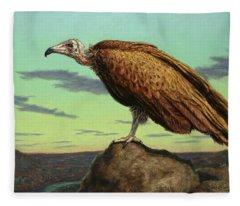 Bird Of Prey Fleece Blankets