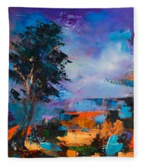 By The Canyon Fleece Blanket