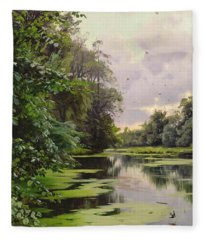 By The Lake II Fleece Blanket