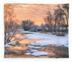 By The Old Mill Fleece Blanket