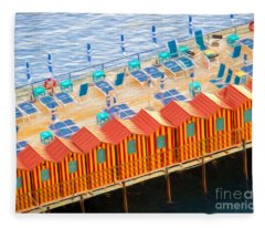 Cabanas Of Sorrento Fleece Blanket