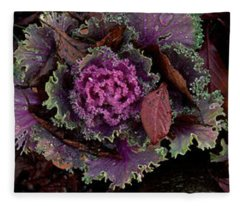 Cabbage With Butterfly Nebula Fleece Blanket