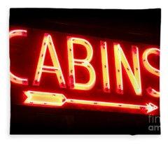 Cabins Fleece Blanket