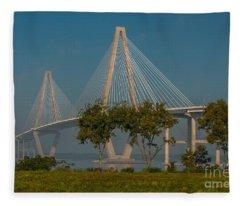 Cable Stayed Bridge Fleece Blanket