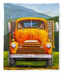 Cabover Truck Fleece Blanket