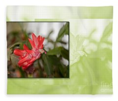 Cactus Blooming Art Prints Fleece Blanket