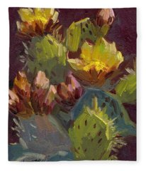 Cactus In Bloom 1 Fleece Blanket