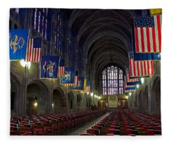 Cadet Chapel At West Point Fleece Blanket
