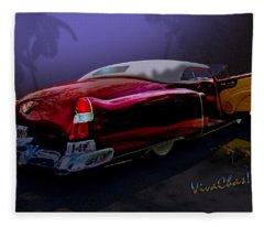 Cadillac Biarritz Convertible Daddy's Caddy Fleece Blanket