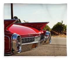 Cadillac In Wine Country  Fleece Blanket