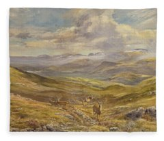 Cairngorms From Kinrara, 1988 Wc Fleece Blanket