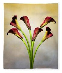 Cala Lily 5 Fleece Blanket