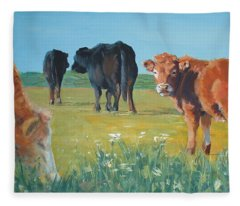 Calf Painting Fleece Blanket