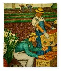 California Farmers Fleece Blanket