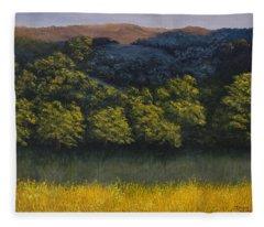 California Foothills Fleece Blanket