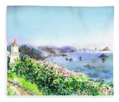 Lighthouse Trinidad California Fleece Blanket