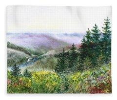 Redwood Creek National Park Fleece Blanket