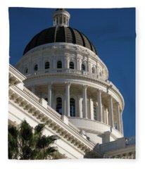 California State Capitol Dome Fleece Blanket