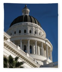 California State Capitol Dome Fleece Blanket