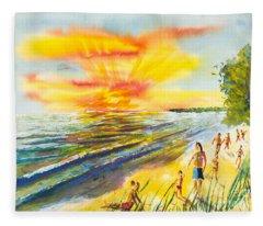 California Sunset Fleece Blanket