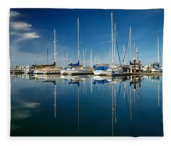 Calm Masts Fleece Blanket