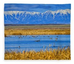 Camas National Wildlife Refuge Fleece Blanket