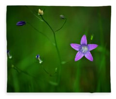 Campanula Patula Fleece Blanket