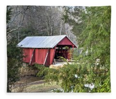 Campbell's Covered Bridge-1 Fleece Blanket