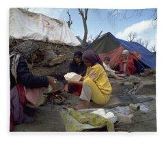 Camping In Iraq Fleece Blanket