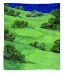 Campo Da Golf Di Notte Fleece Blanket