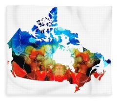 Canada - Canadian Map By Sharon Cummings Fleece Blanket