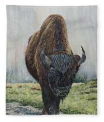 Canadian Bison Fleece Blanket
