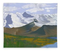 Canadian Rockies Fleece Blanket