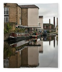 Canal And Chimneys Fleece Blanket
