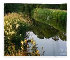 Canal Reflections Fleece Blanket