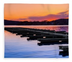 Candlewood Lake Fleece Blanket