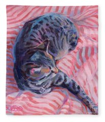 Candy Cane Fleece Blanket