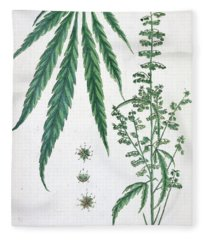 Cannabis Fleece Blanket