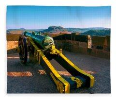 Cannon At The Fortress Koenigstein Fleece Blanket