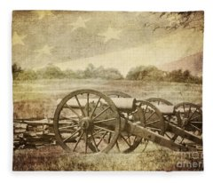 Cannons At Pea Ridge Fleece Blanket