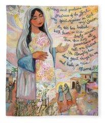 Canticle Of Mary Fleece Blanket