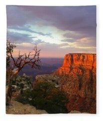 Canyon Rim Tree Fleece Blanket