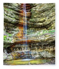 Canyon Starved Rock State Park Fleece Blanket