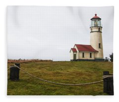 Cape Blanco Lighthouse Fleece Blanket