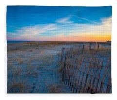Cape Cod Sunset Fleece Blanket